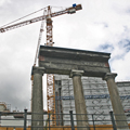 columns and crane
