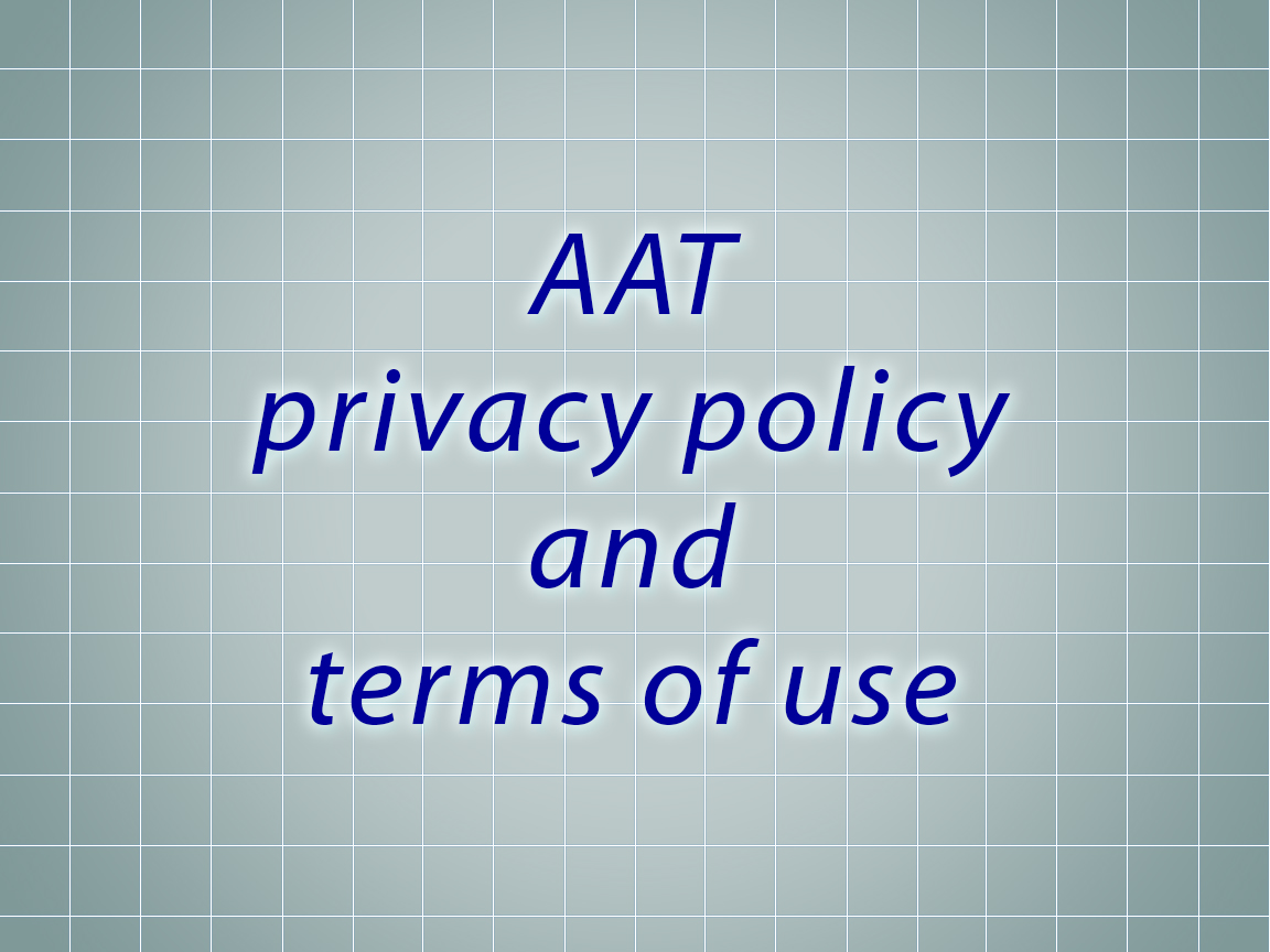 AAT privacy policy and terms of use updates