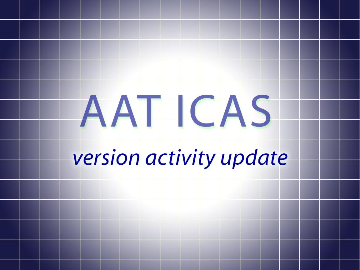 AAT ICAS version activity update