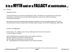 it is a MYTH and or a FALLACY of metrication ...